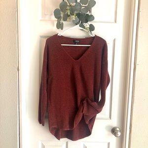 Burgundy slouchy sweater